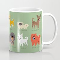 asian Mugs featuring ASIAN DOGS by DoggieDrawings