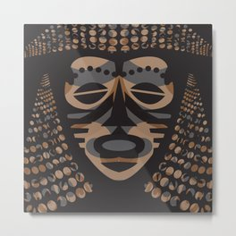 African Tribal Mask No. 1 Metal Print