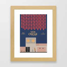 Mon Oncle - Jacques Tati Movie Poster, classic French movie, old film, Cinéma français, fun, humor Framed Art Print