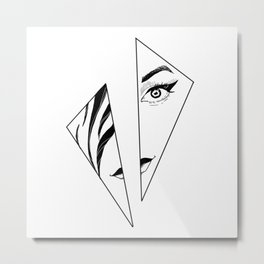 Geometric Girl Metal Print