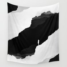 Black Isolation Wall Tapestry