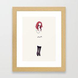 BDSM Minimalism Framed Art Print