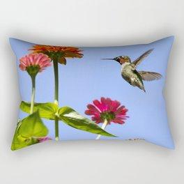 Hummingbird Happiness Rectangular Pillow