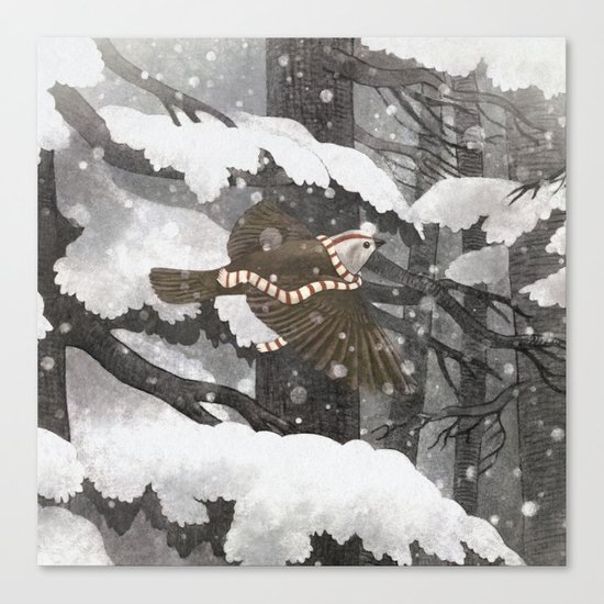 Winter Bird  Canvas Print