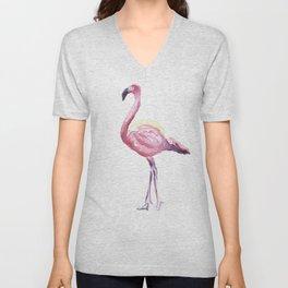 Full Flamingo Unisex V-Neck