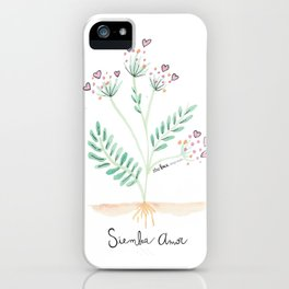 Siembra Amor iPhone Case