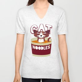 Cat Noodles Unisex V-Neck