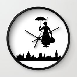 marry poppins Wall Clock