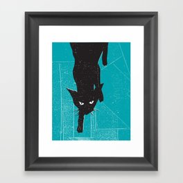 Black Kat Framed Art Print