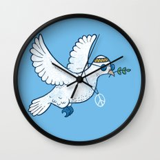 Hippie Dove Wall Clock