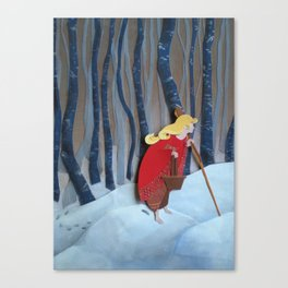 Waiting in the Woods Canvas Print