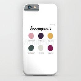 Enneagram 7 iPhone Case