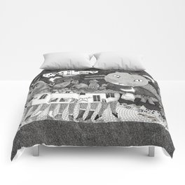 Cats at Night Comforters