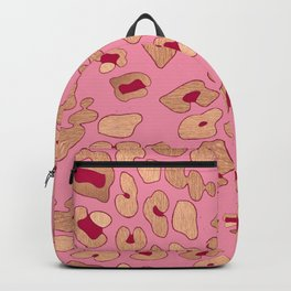RoseGold: Leopard + Pink & Red Backpack