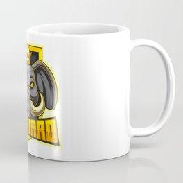 Elephant Esport Mascot Logo Design Coffee Mug
