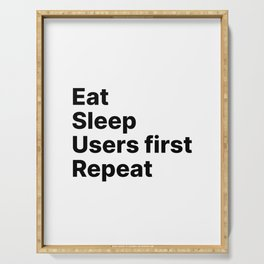 Users First - Eat Sleep Repeat UX Serving Tray