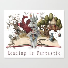 Reading is Fantastic Canvas Print