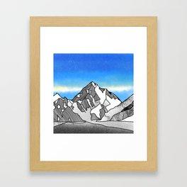 K2 MOUNTAIN LANDSCAPE Framed Art Print