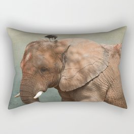 Brotherly- elephant and owl Rectangular Pillow