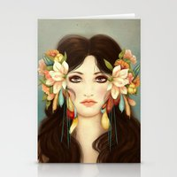 caleb troy Stationery Cards featuring Helen of Troy by Maribellum