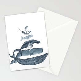 whale gatherin Stationery Cards