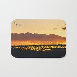 Sunset Silhouettes Bath Mat