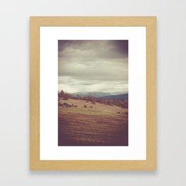 Distant Mountain Framed Art Print