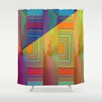 antique Shower Curtains featuring Antique Museum by Vitta