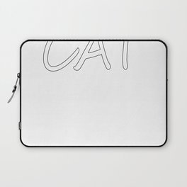 I Love My Cat Cheerleading And Naps Laptop Sleeve