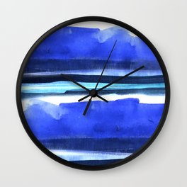 Wave Stripes Abstract Seascape Wall Clock