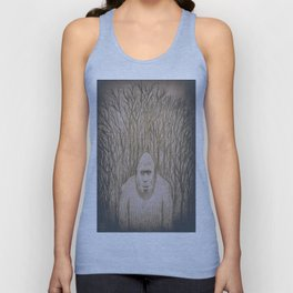 Sasquatch in the woods Unisex Tank Top