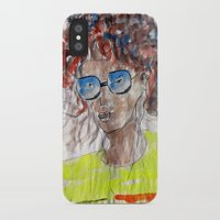 model iPhone & iPod Cases featuring Model by anup (art dun)