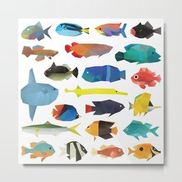 Tropical Fish chart Metal Print