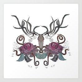 THE EVIL DEER Art Print