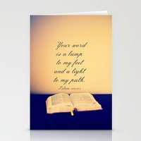 bible Stationery Cards featuring Bible  by Jo Bekah Photography
