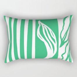 Long Leaf Stripe green Rectangular Pillow