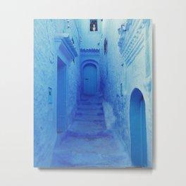 The blue street Metal Print