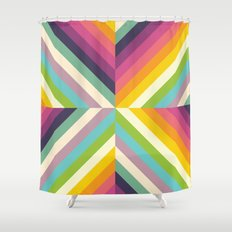 Retro Celebration Shower Curtain