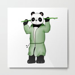 Panda the wild warrior Metal Print