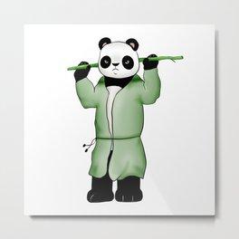 Panda the wild warrior Metal Print