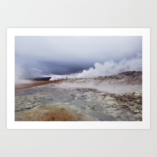 Man on the moon, Iceland Art Print