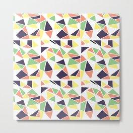 Seamless mosaic pattern triangles Metal Print