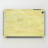 walrus iPad Cases featuring Walrus  by Caitlyn Cold