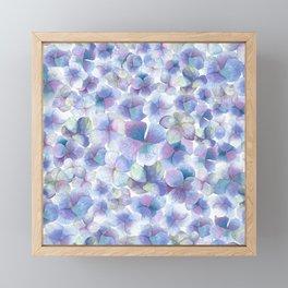 Romantic small blue flowers Framed Mini Art Print