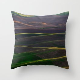 The Palouse Hills at Sunset Throw Pillow