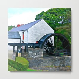 The Auld Mill House Metal Print