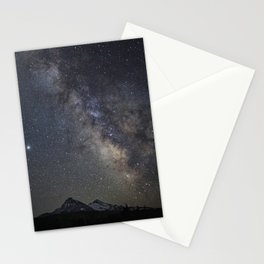 Saturn, Jupiter and the Milky Way over the North and South Sisters Stationery Cards