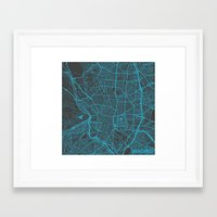 madrid Framed Art Prints featuring Madrid by Map Map Maps