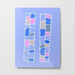 Indoor Constellation (Purple) Metal Print