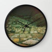 peru Wall Clocks featuring PERU by Camille Defago